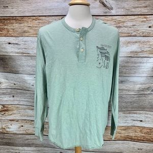 Lucky Brand Henley AMERICAN FAVORITE Heather Green